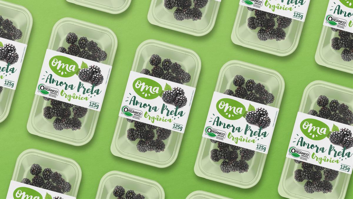 Oma Organics国外果蔬品牌系列包装设计|摩尼视觉分享