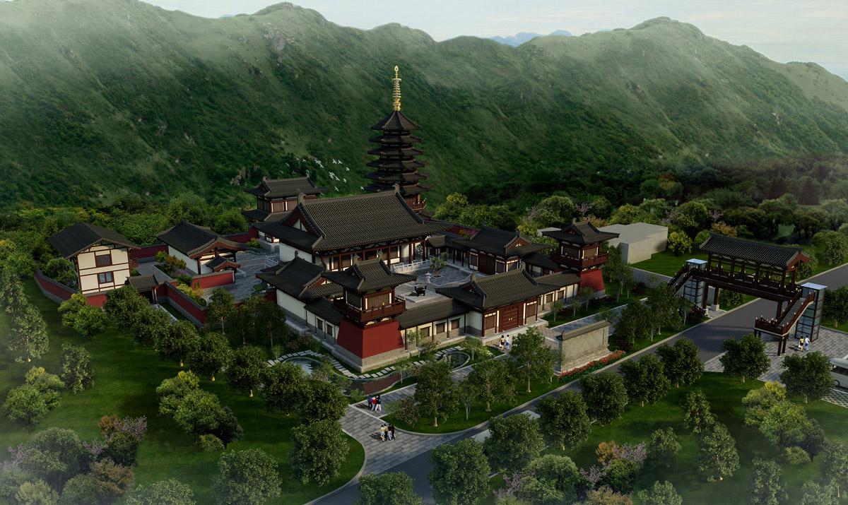 成都古建筑设计/寺庙道观规划设计/古镇整体规划/民宿