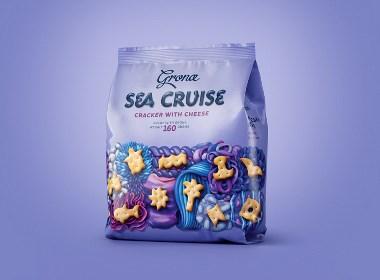 Sea Cruise & Melody饼干系列包装设计|摩尼视觉分享