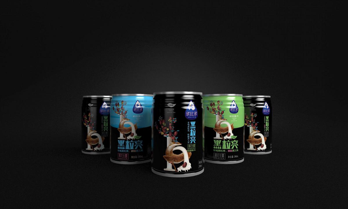 乐比乐黑色饮品——徐桂亮品牌设计