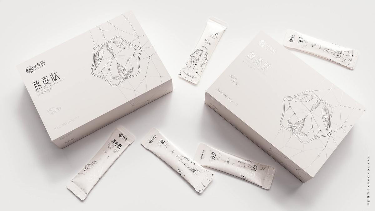 燕麦肽代餐粉固体饮料包装设计