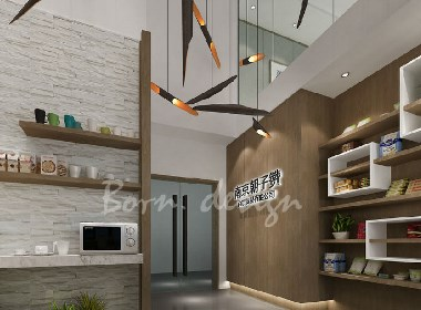上海贸易公司现代新中式精致装修办公室设计方案