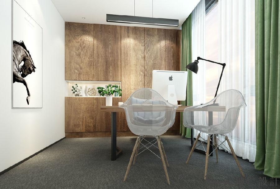 上海文化传媒现代时尚简洁办公室装修设计方案