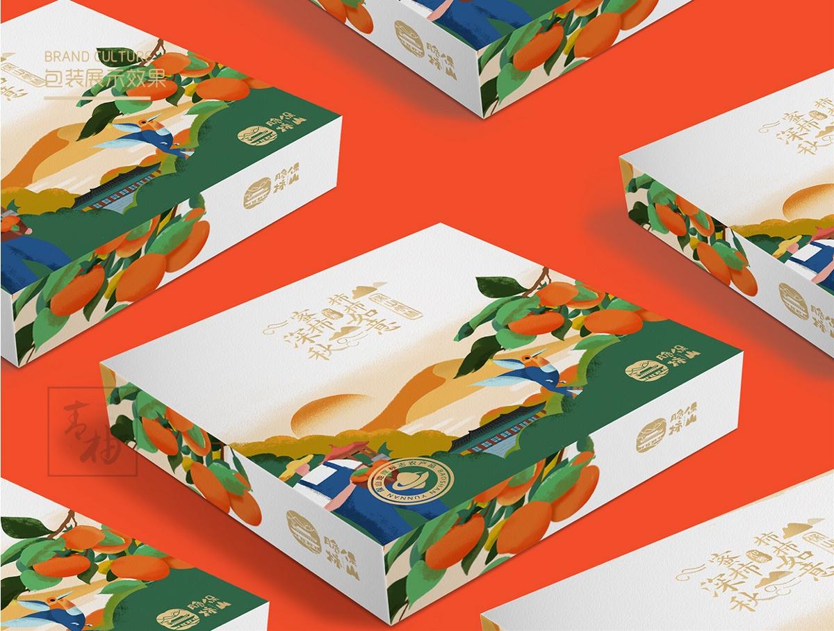 云南脆柿品牌策划包装设计-青柚设计