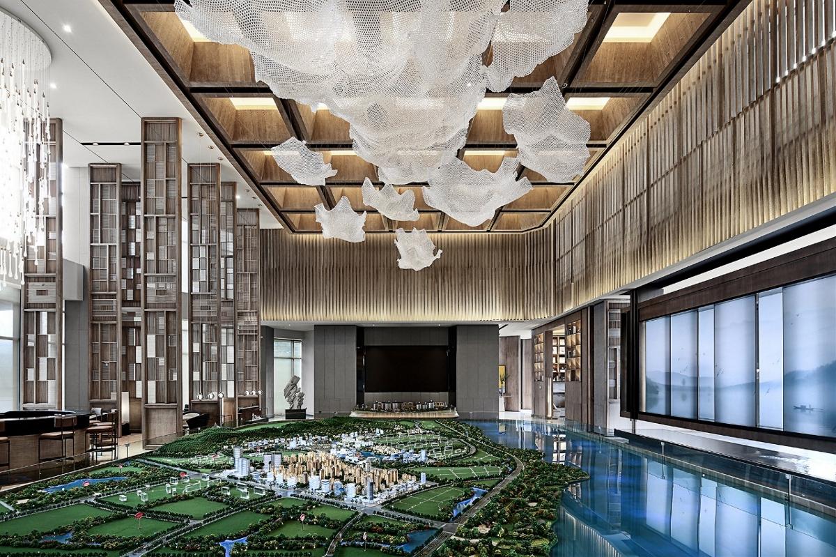郑州绿地售楼部设计效果图