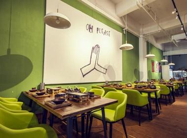 【旺角纸上烤肉】—成都餐厅装修设计/成都烤肉店装修设计