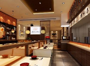 【乌冬面】—成都餐厅装修/成都面馆设计