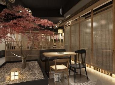 """日式料理餐厅设计""""泉野菜""""———观盛合设计"""