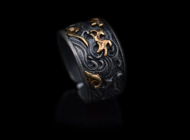 中国古法金工之美——金银错之云纹戒指