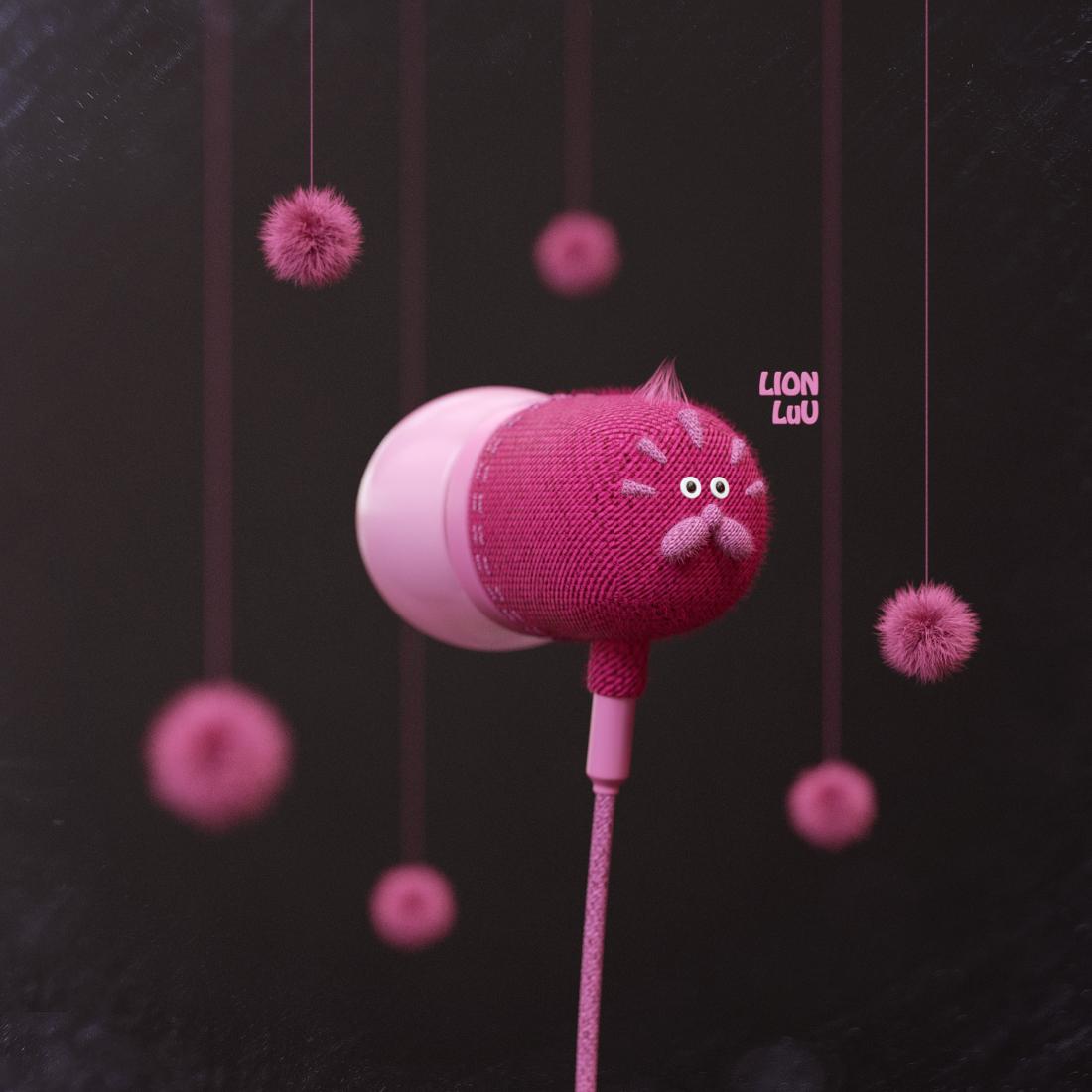 动物形状耳机设计