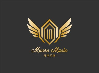 缪斯乐器品牌形象标志设计