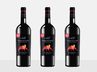 红酒标签设计,包装设计