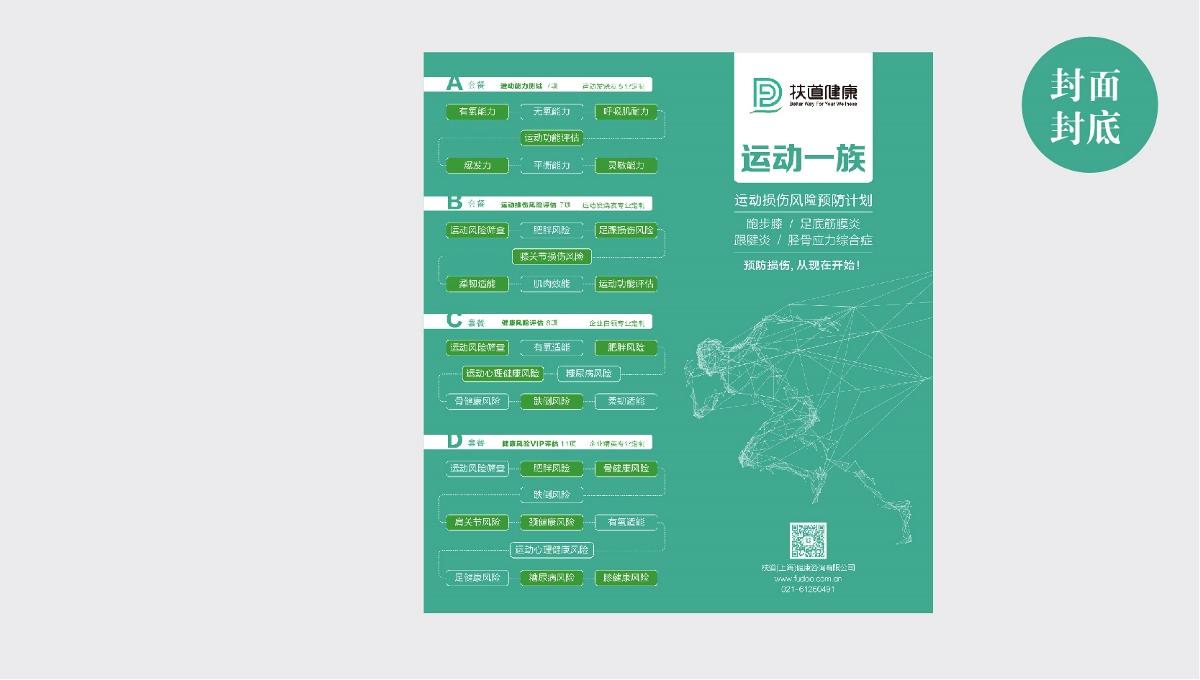 扶道健康品牌宣传折页设计