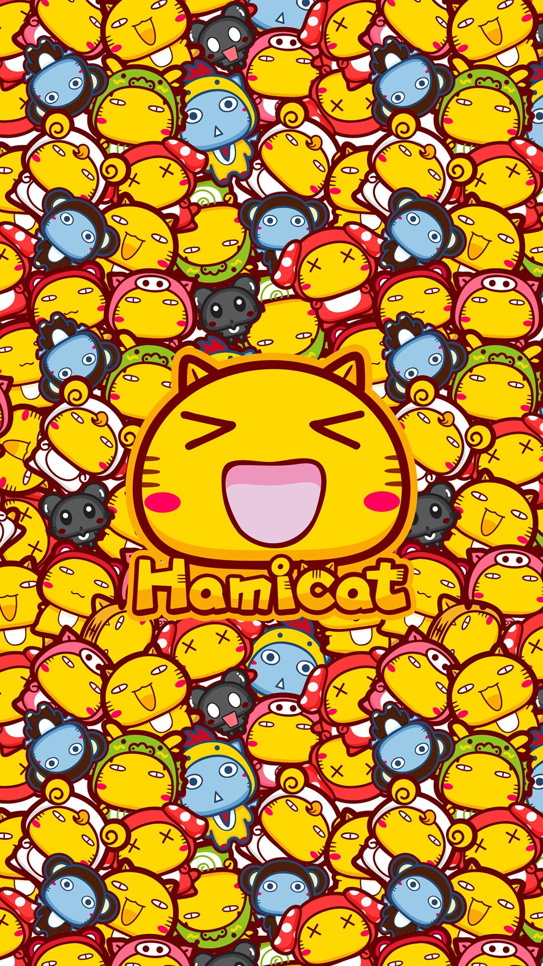 有很多很多很多只哈咪猫的插画