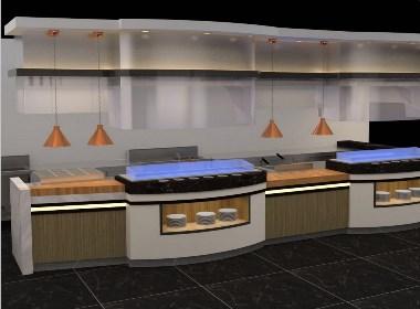 迪克餐台设备移动布菲台迪克餐厨艺术自助餐厅自助餐台设计制作