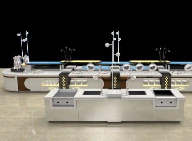 迪克自助餐台定制buffet设计自助餐台组合大理石餐台大理石