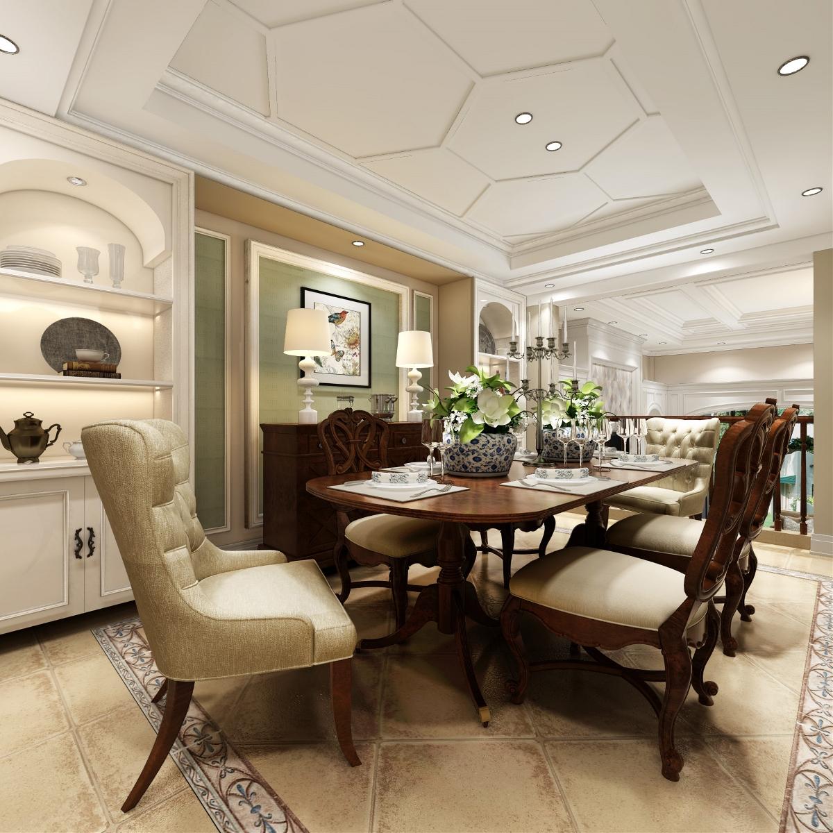 昆山紫怡花园别墅项目装修欧美风格设计