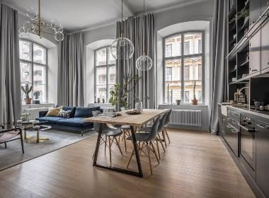 高高的天花板和拱形窗户:具有传统感的精致家居装修设计