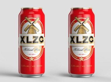 XLZG啤酒包装设计-深圳创四方设计