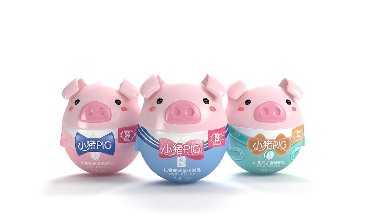 旺仔小猪PIG——徐桂亮品牌设计