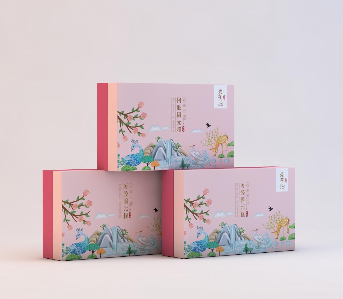 阿胶糕包装设计/阿胶糕红糖食品包装、VI设计