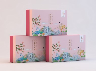 阿膠糕包裝設計/阿膠糕紅糖食品包裝、VI設計