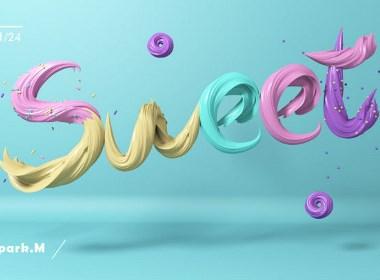 创意三维字体建模