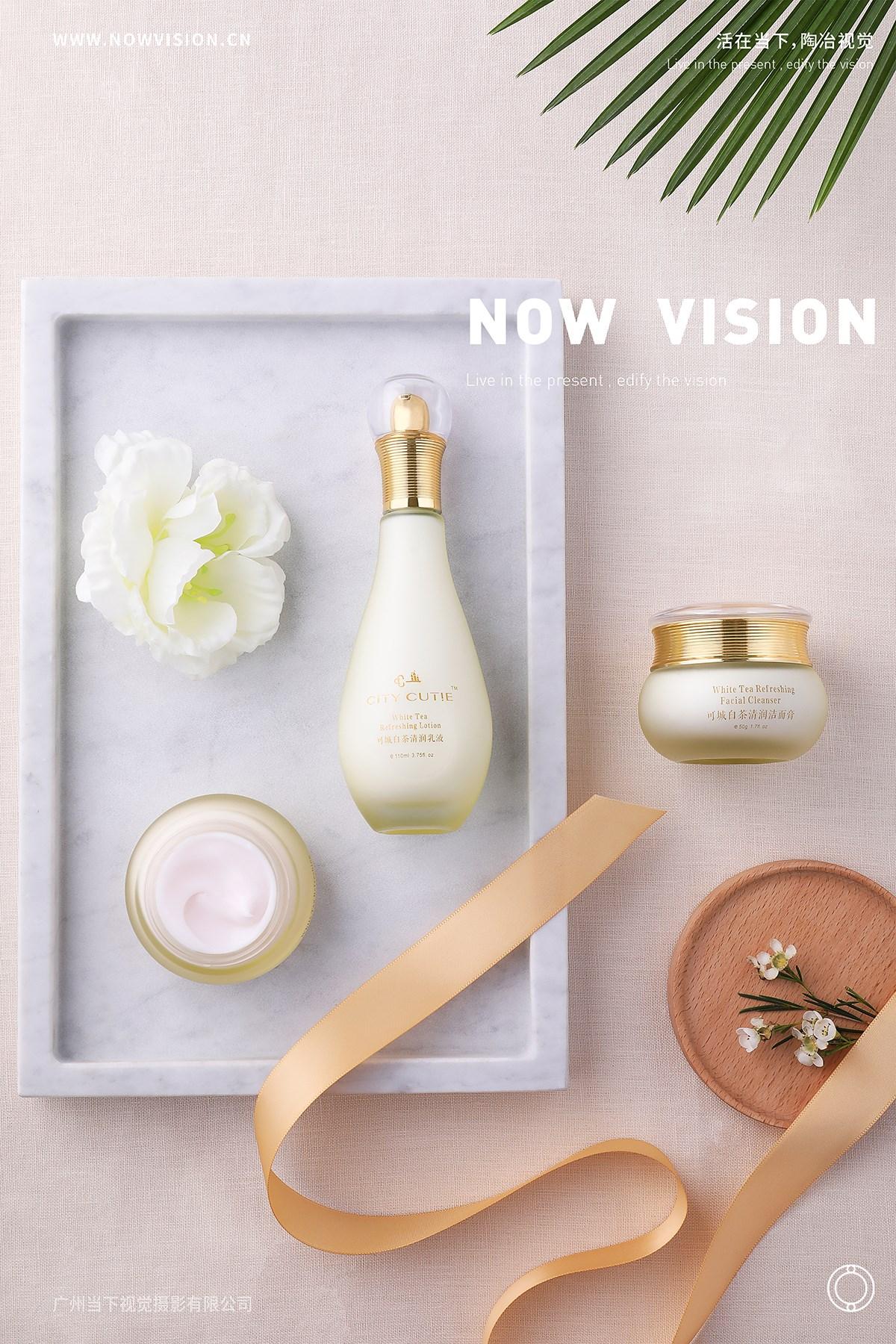 化妆品·可城白茶系列产品拍摄 | 当下视觉摄影 | NOWVISION