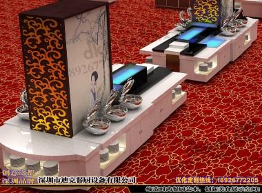 迪克自助餐台设计 自助餐台效果图 大理石餐台 自助餐台图片