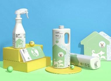 原创-宠物消毒水包装设计-西安厚启设计