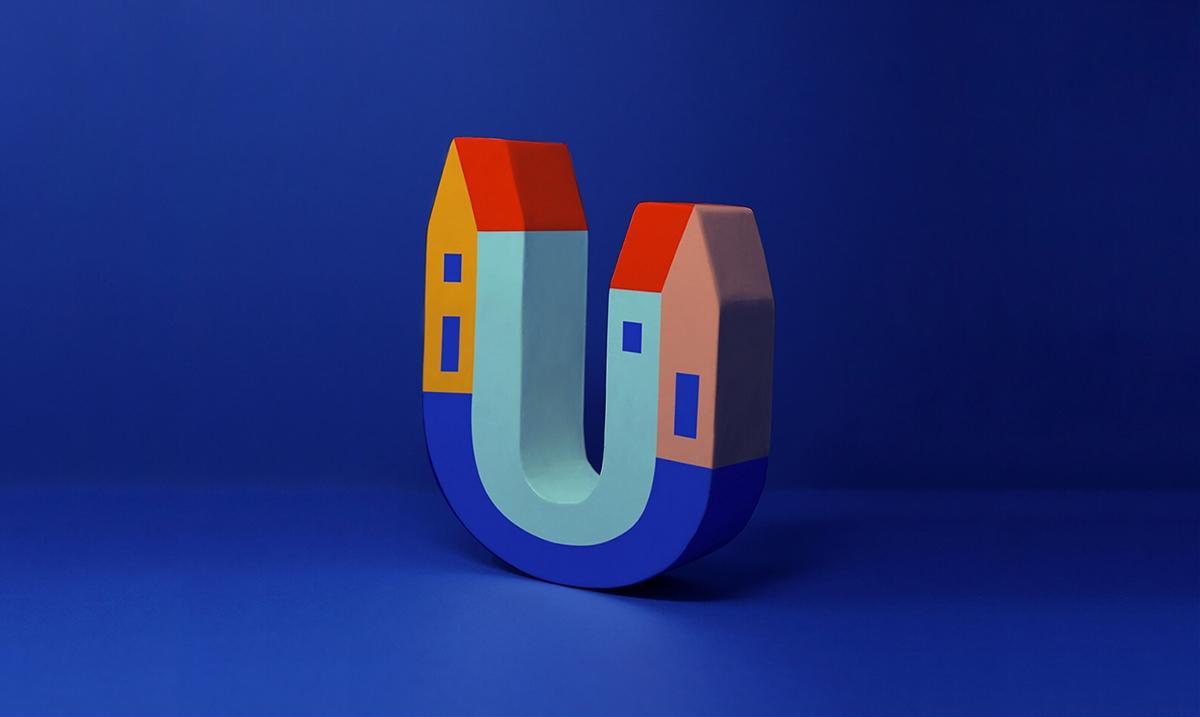 搜索和提供中长期租金平台UHOST品牌VI设计