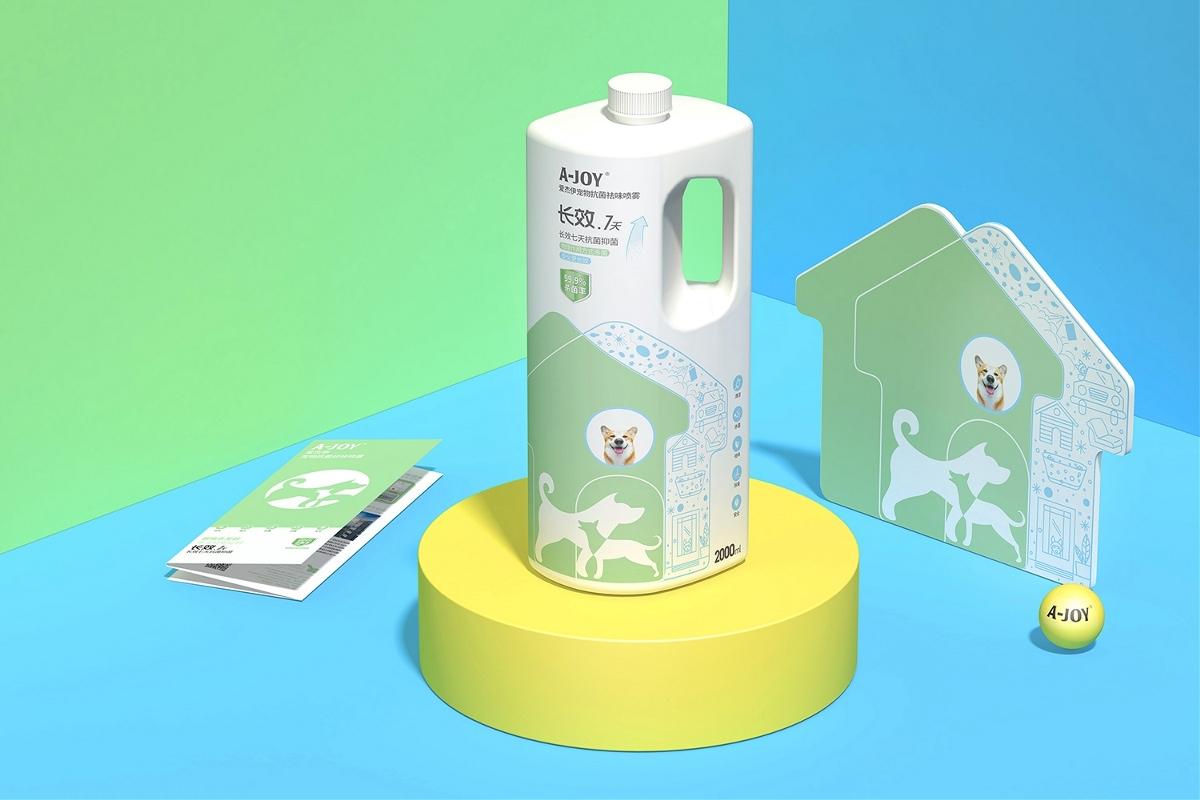 原創-寵物消毒水包裝設計-西安厚啟設計