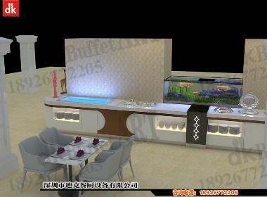 深圳迪克森设计自助餐台定做布菲台列自助餐厅装修设计