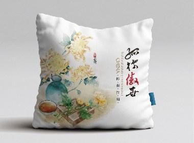 梅兰竹菊系列抱枕