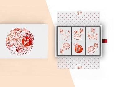 蛋黄酥通用礼盒包装设计