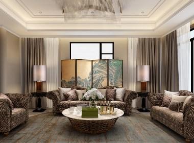 安亭高尔夫别墅项目装修现代轻奢主义风格设计!