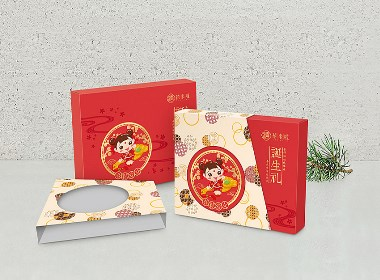 禧来啦诞生礼盒包装设计及LOGO设计