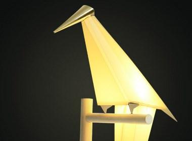 灯具产品设计案例-纸鹤灯-深圳工业设计公司