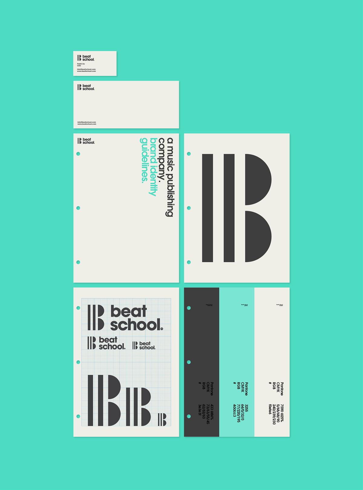音乐发行公司Beat School品牌视觉设计
