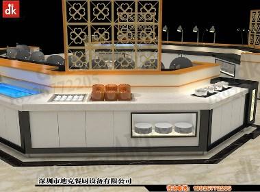 迪克自助餐台布置图片 自助餐厅装修设计 自助餐台制作安装