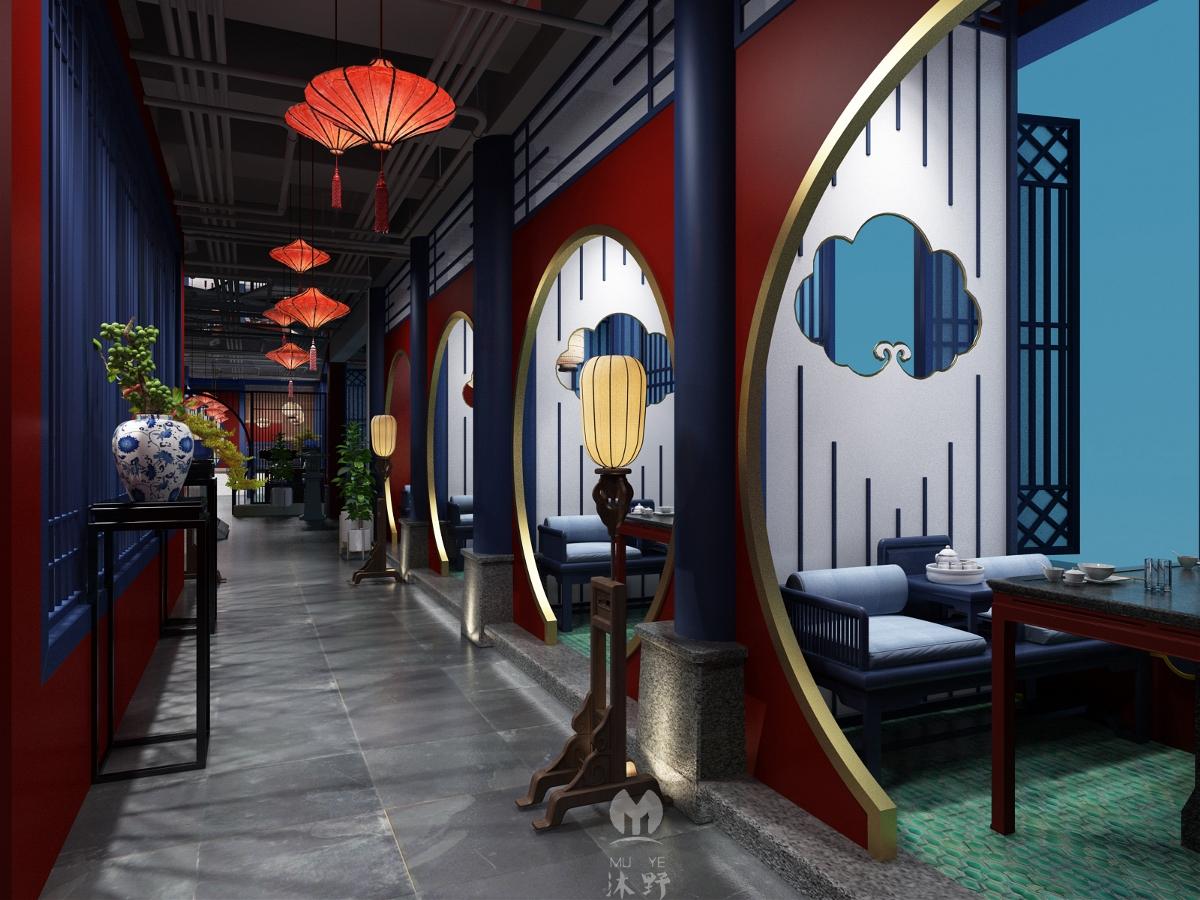 中式宫廷风火锅店设计——沐野