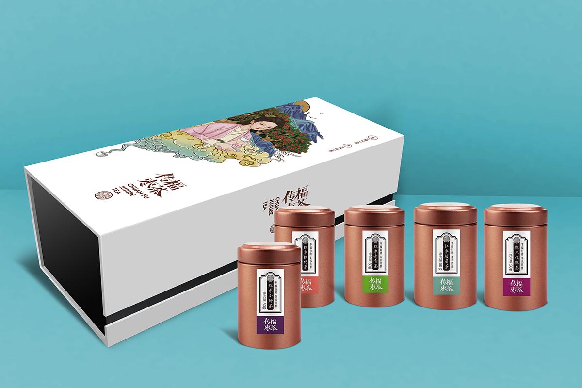 传福枣茶品牌包装设计