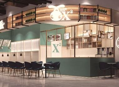 小飞设计:X兔奶茶店(太原餐饮设计)