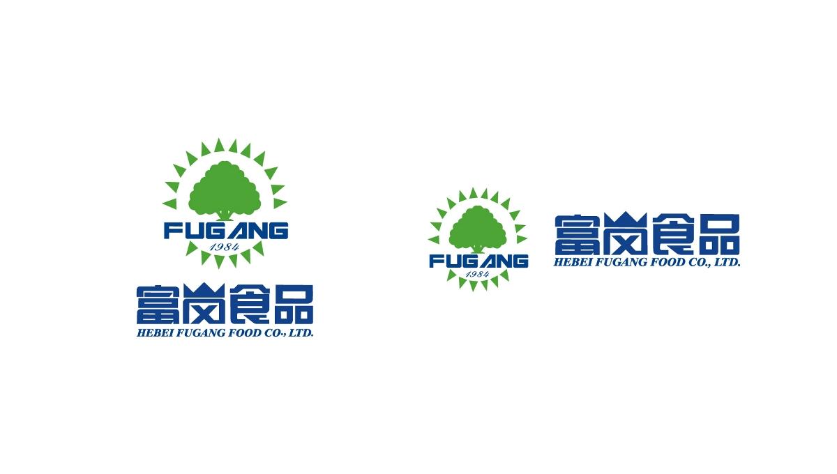 富岗食品农产品品牌标志logo设计