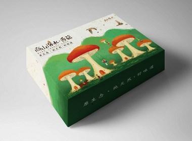商山洛水「天然香菇」包装设计