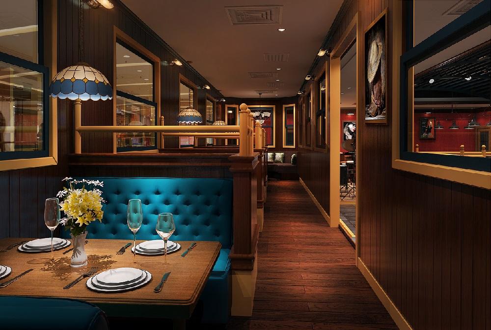 成都美式西餐厅装修设计案例-卓巧-成都高档西餐厅装修设计v案例的名片设计图片图片