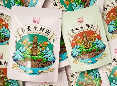 高鵬設計——蕎麥生鮮面特產農產品包裝設計