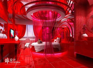 情侣酒店设计案例——非设计长沙薇蜜艺术酒店