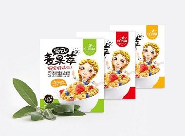 红谷林品牌每日麦果萃食品包装设计