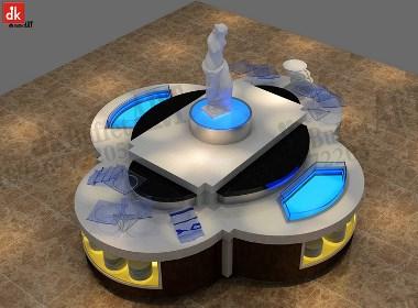 迪克森餐饮餐台设备 承包餐饮行业人造石大理石亚克力餐台 主题餐厅规划布局设计